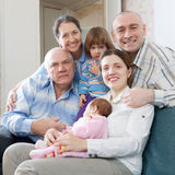 Happy three generations family Royalty Free Stock Photography