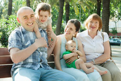 Happy three generations family Stock Photography