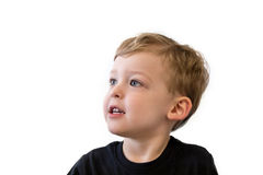 Happy three year old boy royalty free stock photography