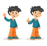 Happy THumb Up Young Boy Expressions Royalty Free Stock Photo