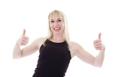 Happy thumbs up Royalty Free Stock Image