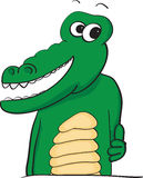 Happy thumbs up alligator. Vector illustration of a happy smiling alligator with his thumb up Royalty Free Stock Image