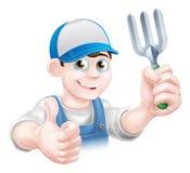 Happy Thumbs Up Gardener Stock Photo