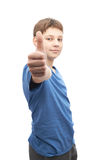 Happy thumbs up young boy Royalty Free Stock Image