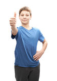 Happy thumbs up young boy Royalty Free Stock Photo