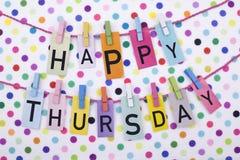 Free Happy Thursday Stock Image - 54757641