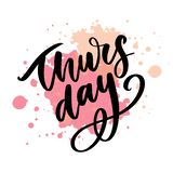 Happy Thursday - Fireworks - Today, Day, weekdays, calender, Lettering, Handwritten, vector for greeting. Happy Thursday - Fireworks - Today, Day, weekdays vector illustration
