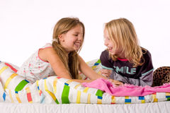 Happy when tickling Royalty Free Stock Photo