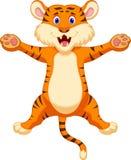 Happy tiger cartoon. Illustration of Happy tiger cartoon Stock Photography