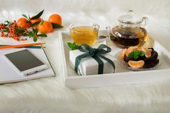Happy time break and gift. Stock Image