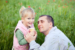Happy time with father Stock Images