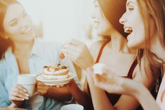 Happy Time 8 Marth for all Women. Happiness Girls. stock photo