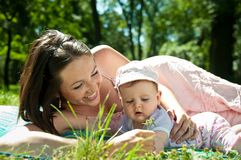 Happy time - mother with baby Royalty Free Stock Photo