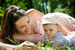 Happy time - mother with baby Stock Images