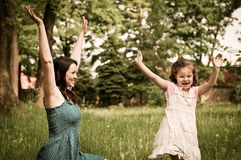 Happy time - mother with her child Royalty Free Stock Image