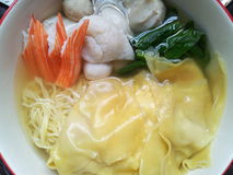 Happy time. Noodles with fish balls Stock Photography