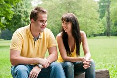 Happy time - young couple together Royalty Free Stock Images