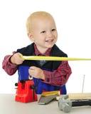 Happy Tiny Toolman Stock Images