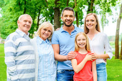 Happy to be a family. Royalty Free Stock Photos