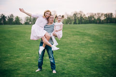 Happy to be a family Royalty Free Stock Photography