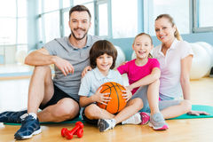 Happy to be a family. Royalty Free Stock Photography