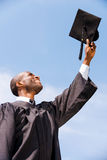 Happy to be graduated. Stock Photos