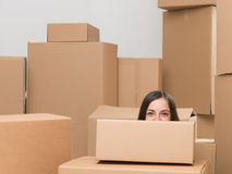 Happy to be moving house Stock Images