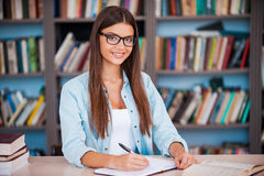 So happy to be a student! Royalty Free Stock Photos