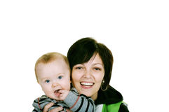 Happy to be Together. Happy mother with her little baby boy Stock Photo
