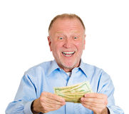 Happy to have money Stock Photo