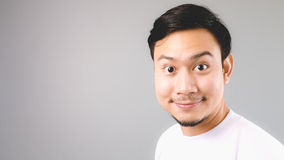 He is happy to hear the news. royalty free stock photo
