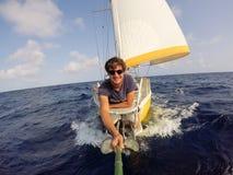 Happy to sail Stock Image