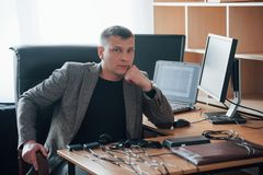 Always happy to see you. Welcome. Polygraph examiner works in the office with his lie detector`s equipment