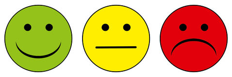 Free Happy To Unhappy Smileys Royalty Free Stock Photo - 39762115