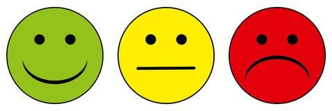 Happy to unhappy smileys Royalty Free Stock Photo