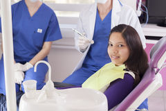 Happy to visit the dentist Stock Images