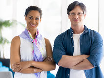 Happy to work together Stock Image