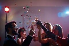 Happy toast Stock Image