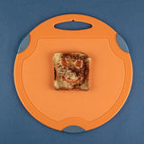 Happy toast on a cutting board Royalty Free Stock Photos