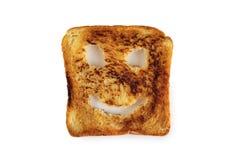 Happy toast. Isolated on white background Stock Photo