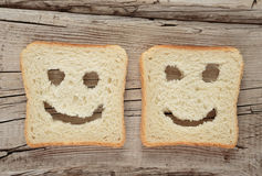 Happy toast on an old wooden stock image