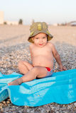 Happy toddler on the beach Royalty Free Stock Photography