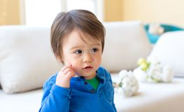 Happy toddler boy playing Royalty Free Stock Images
