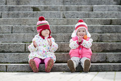 Happy toddler firlends Royalty Free Stock Image