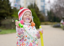 Happy toddler girl Royalty Free Stock Photo