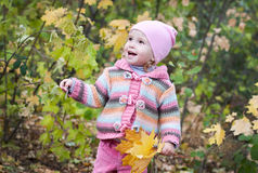 Happy toddler girl Royalty Free Stock Photography