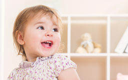 Happy toddler girl with great big smile Royalty Free Stock Photo