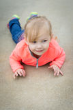 Happy toddler girl Stock Photography