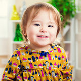 Happy toddler girl with a nice smile Stock Photography