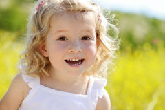 Happy toddler girl Royalty Free Stock Photos